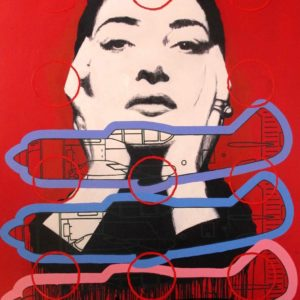 RUSSELL TRAVERS - RED MARIA - 180 X 140 CM