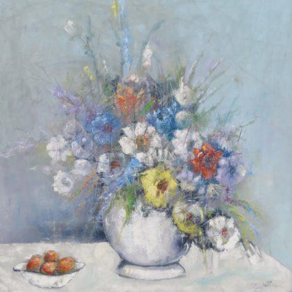OBERT JONGWE - STILL LIFE FLOWERS - 150X 150 CM