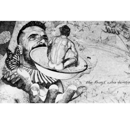 CHRISTIAAN DIEDERICKS - Bloodroots IV (Self-determination - The frogs who demand a king) - 20 X 40 cm