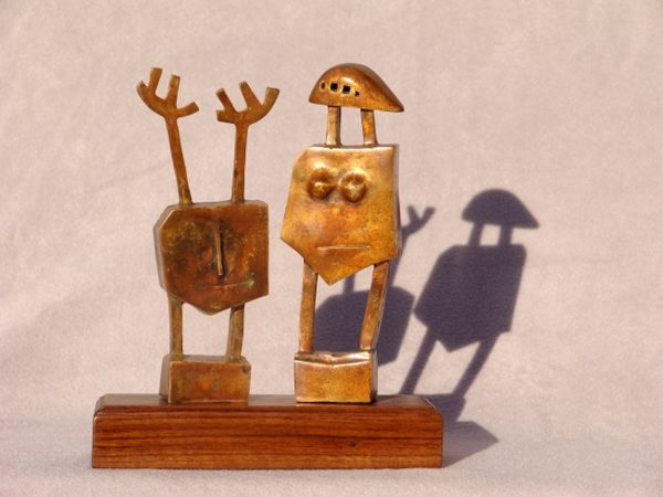 CARL ROBERTS - PICASSO PEOPLE TROUBLE AND STRIFE - 27 X 23 X 7 CM