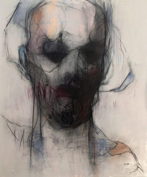 Schalk van der Merwe - THE DISTANCE IN YOUR EYES - 92 X 76 CM